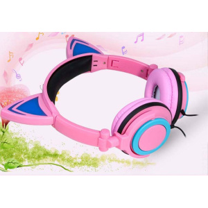LED lighting glowing headphone for mobile handset