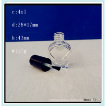 Heart Shaped Glass Nail Polish Oil Bottle with 4ml