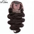 De gama alta con el precio de fábrica Venta al por mayor 100 Virgen cruda Peruano 360 peluca frontal de encaje Seda base del cuerpo del cabello humano de larga duración