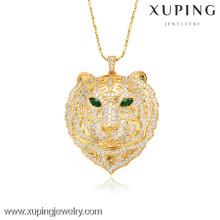 32008-Xuping imitação de jóias de moda pingentes para mulher com banhado a ouro 18k (a forma de leopardo)