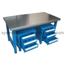 Stainless Steel Work Table with Two Tools Cabinet