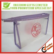 Наиболее популярные логотип печатных PVC косметический мешок