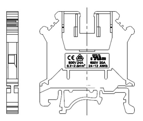 din rail mounted terminal blocks