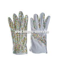 Gant de travail en coton pour jardinage floral-2116
