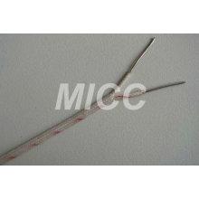 Fil de thermocouple de silice vitreuse type K- 2x20 AWG