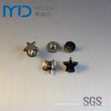 Star Shape Shoe Snap Rivers et ornements en métal pour les vêtements de mode, les vêtements, les sacs et les chapeaux