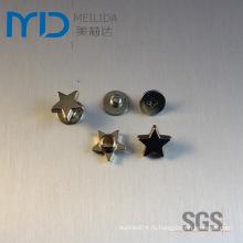 Звездообразные обувные заклепки и металлические украшения для модной одежды, одежды, сумок и головных уборов