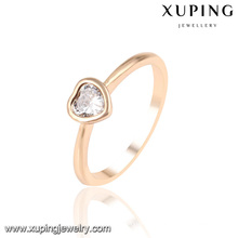 13953 Mode neuesten Zirkonia Herzform Schmuck Fingerring in 18 Karat Gold-Plated
