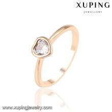 13953 Bague en forme de cœur en forme de coeur zircon cubique en or 18 carats-plaqué