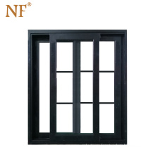 Office grill inside sliding window with laminated glass