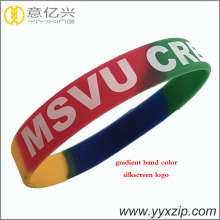 personalized screen silicone band wristband bracelet