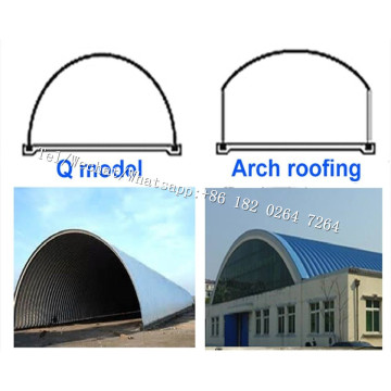 K+Arch+Span+Self+Supported+Metal+Roofing+Machine