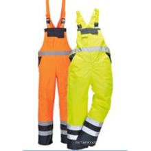 High Quality High Visibility Cargo Pockets Bib Trousers