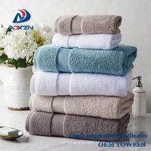 Toalla de baño dorada lisa de alta calidad del algodón de la toalla del algodón 16s 21s de la alta calidad del 100% Toalla de baño / toalla de la cara / toalla de playa / toalla de mano;