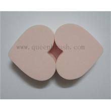 Popular en forma de corazón esponja de maquillaje cosmético