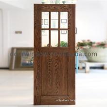 Swinging barn door solid wood glass dutch