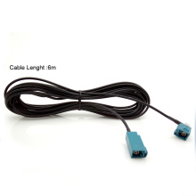 fakra Ángulo derecho al conjunto de cable de RF recto de fakra con coaxial RG316 RG174 LMR100