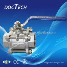 Matériel d'acier inoxydable et robinet à boisseau sphérique en acier inoxydable 316 Standard Standard ou non-standard