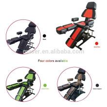 Noir, vert, rouge, impression de léopard couleur chaise de salon professionnel fabricant / vente en gros de chaises de tatouage à vendre / tatouage tatouage de chaise