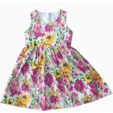 Novo design crianças crianças vestem em moda saia de roupa de crianças (sqd-106 amarelo)