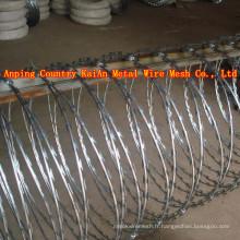 Sharp Razor Fil à barbarie / Fil de rasoirs à barbes / Fil de rasoir galvanisé / fil de rasoir revêtu de PVC / fil barbelé ---- usine de 30 ans