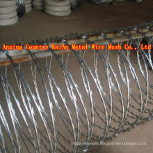 Sharp Razor Barbed Wire / Barbed Razor Wire / Galvanized Razor Wire / PVC coated razor wire / barbed wire ---- 30 years factory
