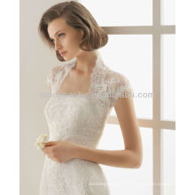 Manteau à manches courtes Veste en bolo avec bretelles en dentelle en dentelle Robes de mariée en sirène 2014 Robes de mariée NB010