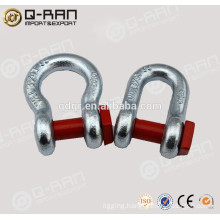 Directly From Factory Lifting Drop Forged Galvanized US Type Bow Shackle