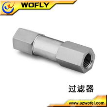 stainless steel high pressure gas tube filter