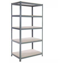 Ebil Steel Angle Shelf Slotted Angle Iron Rack Garage Home Use Light Duty Metal Shelving