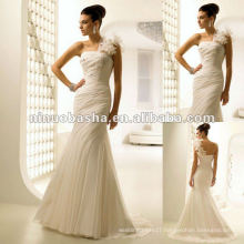 Stunning Chiffon Straight Neckline Mermaid-Style Wedding Dress