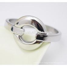 Fournisseur de bijoux en acier inoxydable bracelet argenté en argent