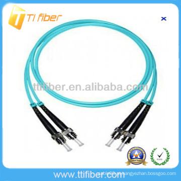 ST-ST Duplex 10G OM3 Fibra óptica patch cord