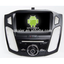 Quad core!car dvd with mirror link/DVR/TPMS/OBD2 for 9 inch touch screen quad core 4.4 Android system FORD FOCUS 2015