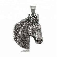 34302 xuping fashion black gun couleur acier inoxydable bijoux tête de cheval croix pendentif