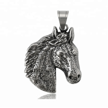 34302 xuping fashion black gun color Stainless Steel jewelry horse head cross pendant