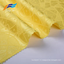 Tissu de vêtement uni respirant en jacquard de polyester pour femmes