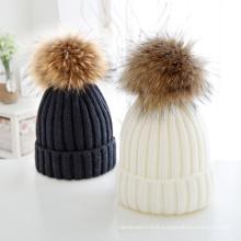 POM Custom Knitted Winter Hat