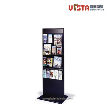 Double Sided Brochure Metal Display Stand