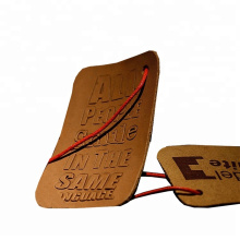 Custom hot stamping embossed logo leather hang tag With Trade Assurance