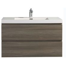 Водонепроницаемые тщеславия для ванной комнаты из МДФ с раковиной