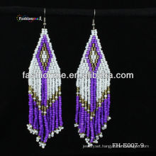 new earring ,purple color bead earring