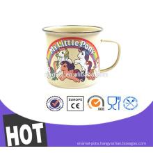 enamel drinkware hand coffee mug ,Pass RoHs ,LFGB certificate