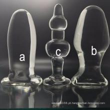 Plugues anais de vidro do brinquedo de alta qualidade do sexo para a mulher