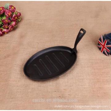 cast iron sizzling steak plate fry pan