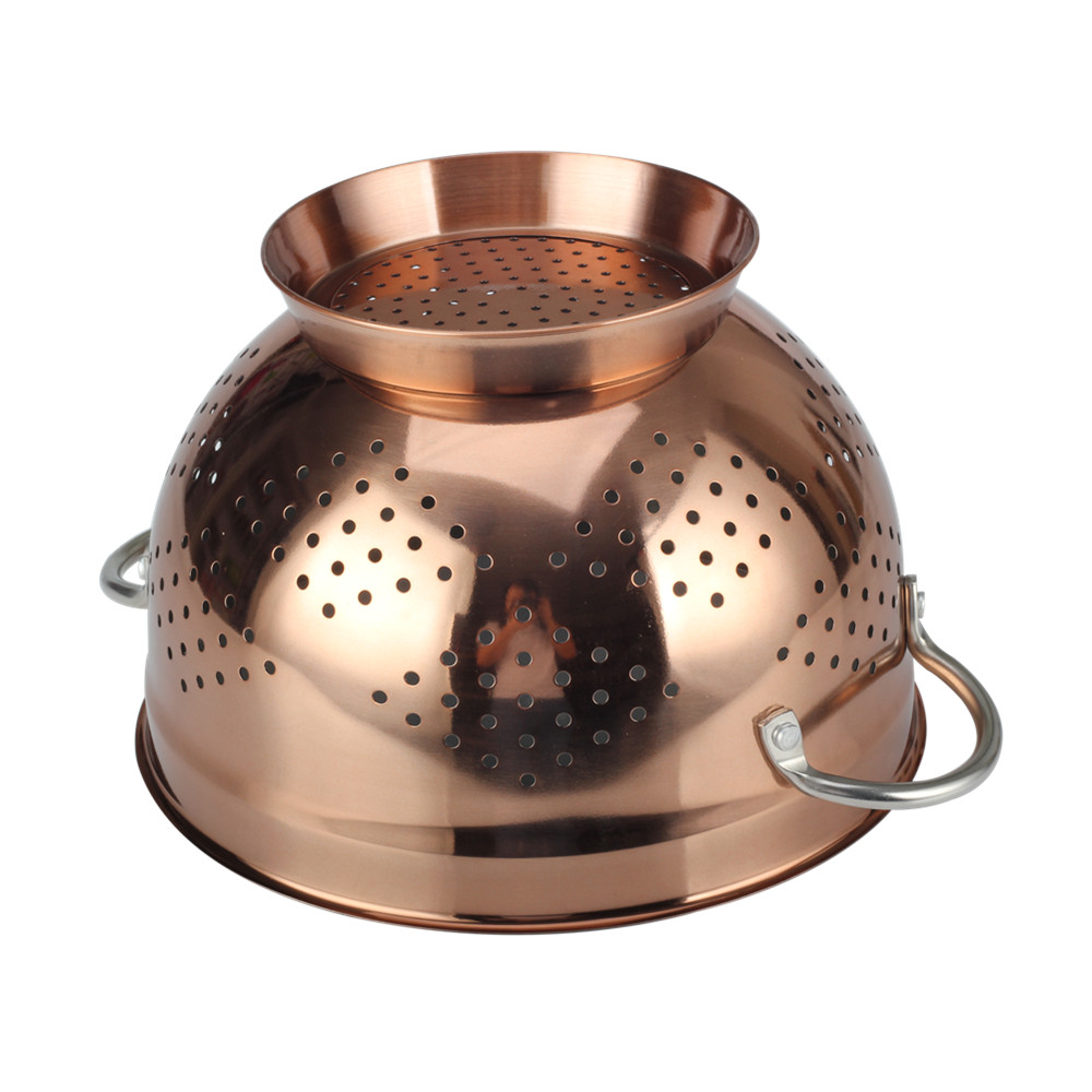Copper Colander With Ring Base