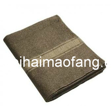 Woven Woolen 30%Wool/70%Polyester Blended Relief/Refugee Blanket