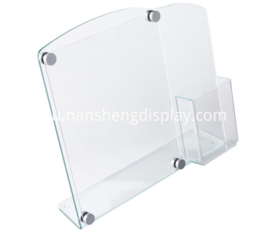 Acrylic Brochure Holder With Standoffs
