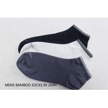 Calcetines de bambú del tobillo de los hombres-13