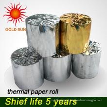 Pequeno rolo de papel térmico de alta qualidade